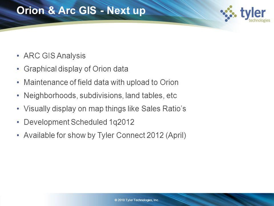 Orion Appraisal: Field Device Options