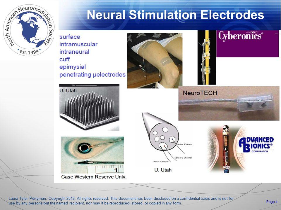 Neural Stimulation Electrodes Laura Tyler Perryman.