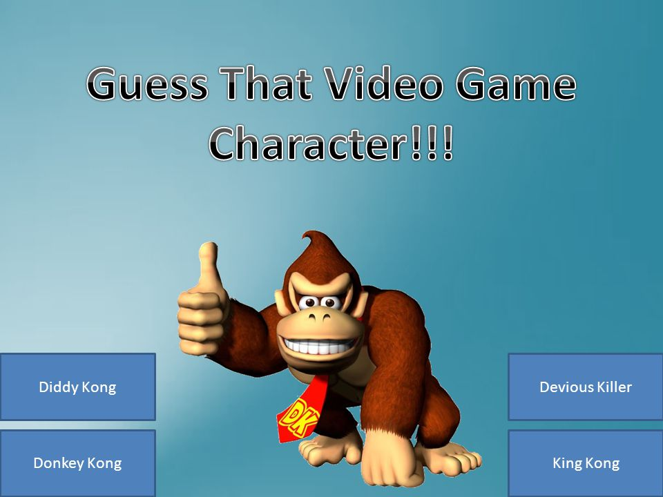 Donkey Kong Diddy KongDevious Killer King Kong