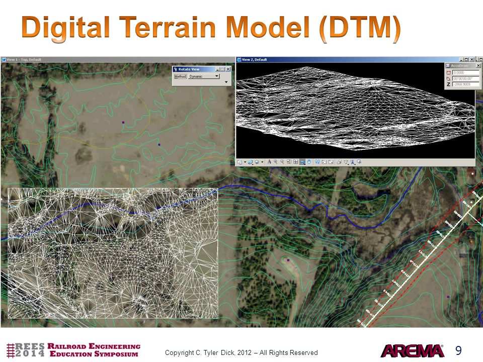 10 Preliminary Route Detailed Topo Horizontal Alignment Vertical Alignment (Profile) DTM Preliminary Subgrade Earthwork Quantities Typical Section Preliminary Limits of Cut and Fill Preliminary ROW Final Geometry (H&V) In ROW.