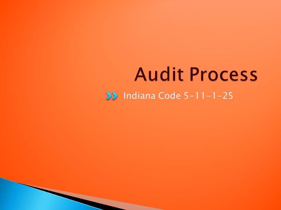 Indiana Code 5-11-1-25
