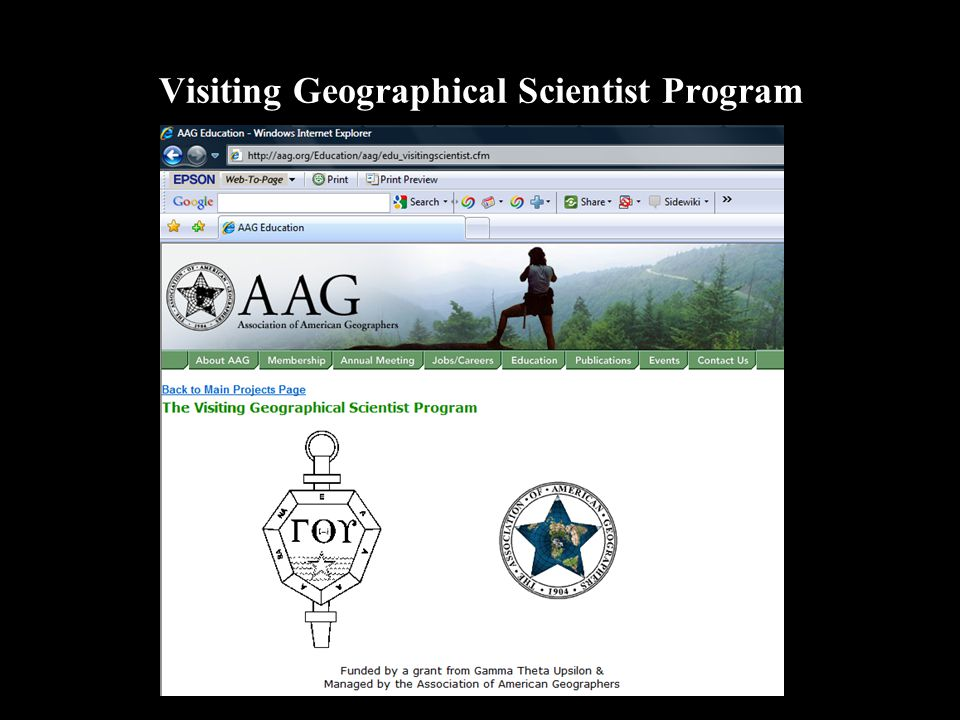 Visiting Geographical Scientist Program