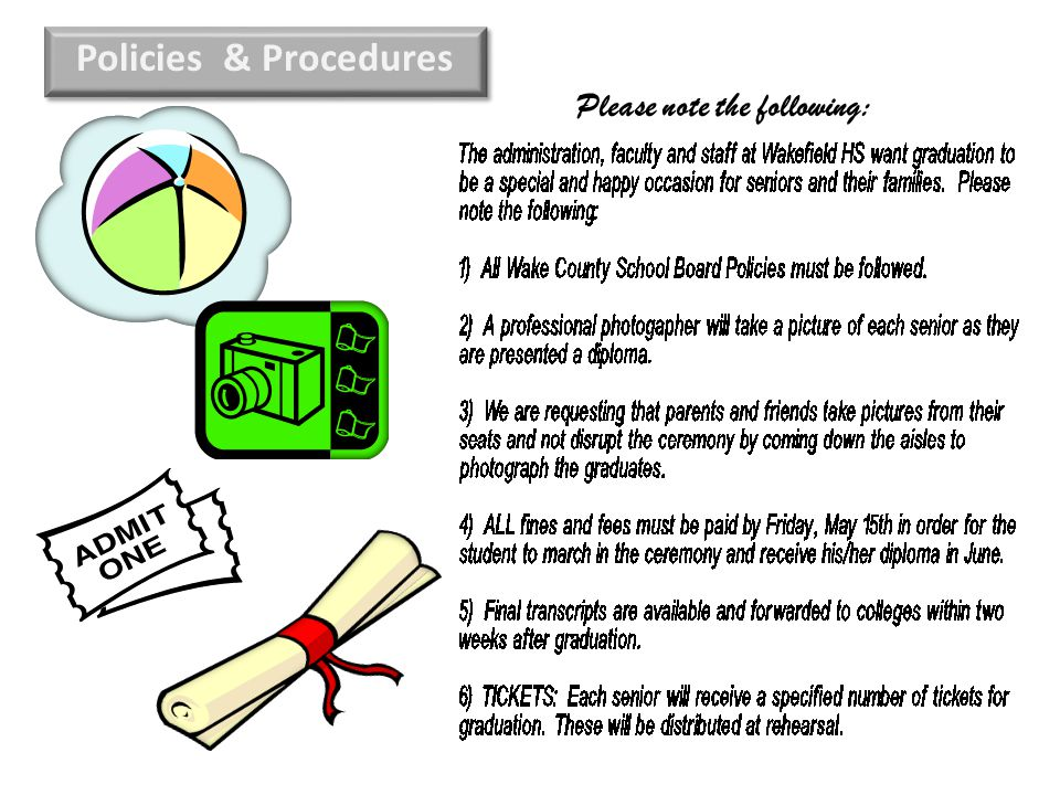 Please note the following: Policies & Procedures