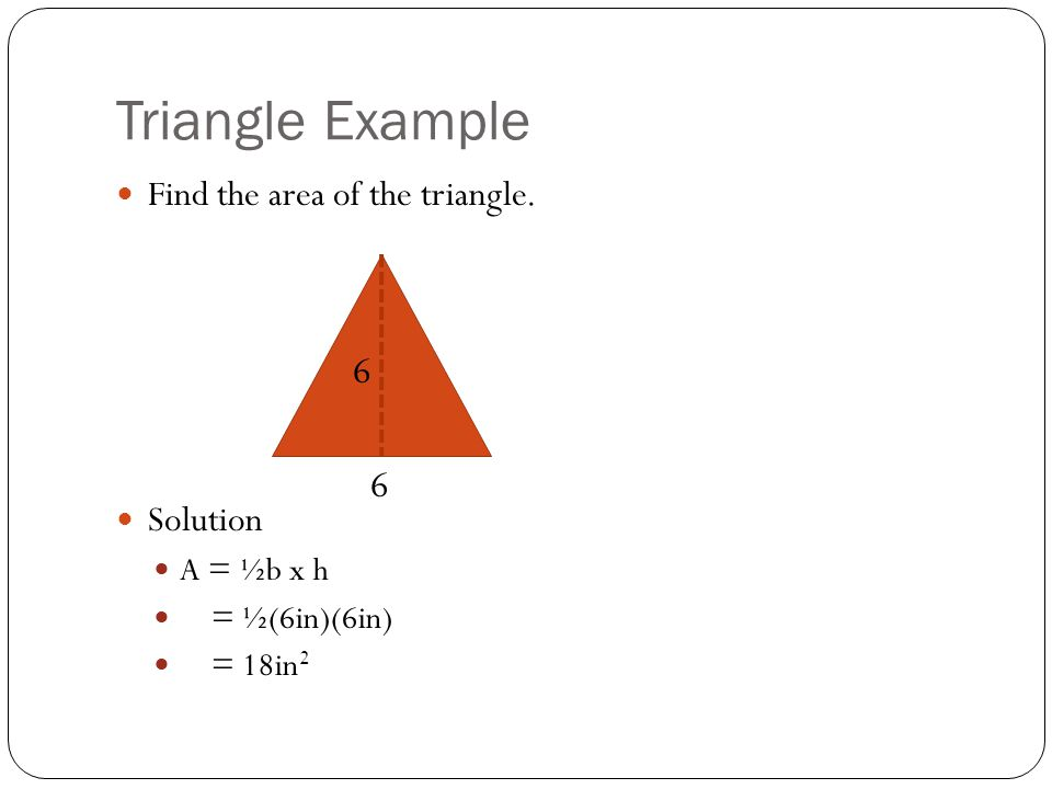 Kite Area of a kite = ½d 1 d 2 d 1 = diagonal 1 d 2 = diagonal 2 Notice how when separated, the kite forms two identical triangles.
