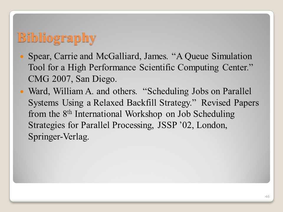 Bibliography Spear, Carrie and McGalliard, James.