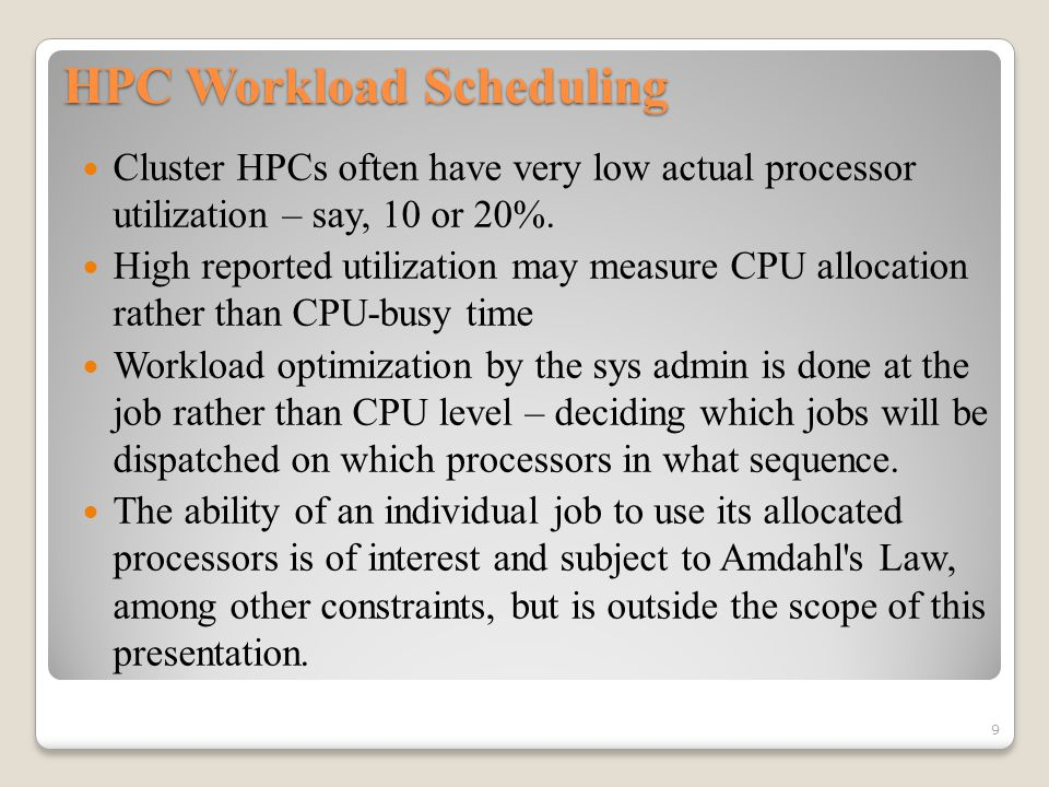 Hadoop Scheduling Alternatives: Capacity Scheduler Organized into queues Queues share a percent of the cluster Goal: Maximize utilization & throughput, e.g., fast response time for small jobs and guaranteed response time for production jobs FIFO within queues Uses pre-emption Queues can be started and stopped at run time If excess capacity is available, can be given to any queue 30