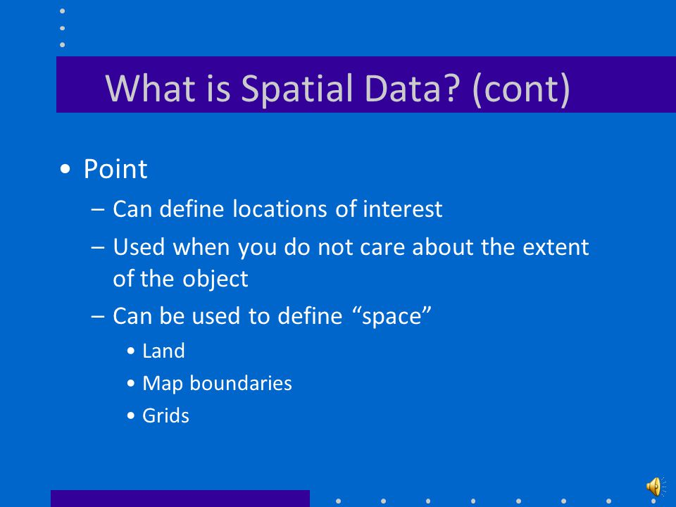 What is Spatial Data.