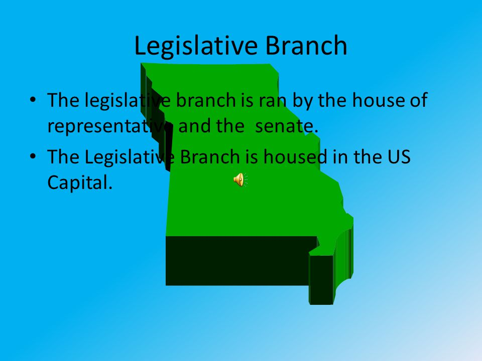 Executive branch The Executive Branch is ran by the president.