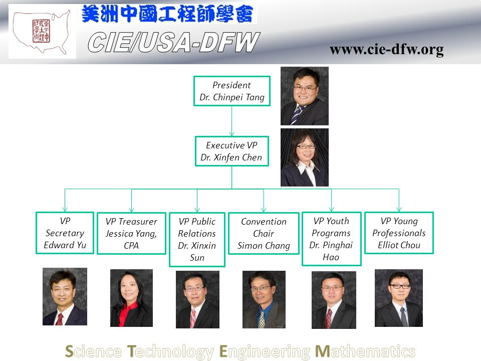 www.cie-dfw.org President Dr.Chinpei Tang Executive VP Dr.