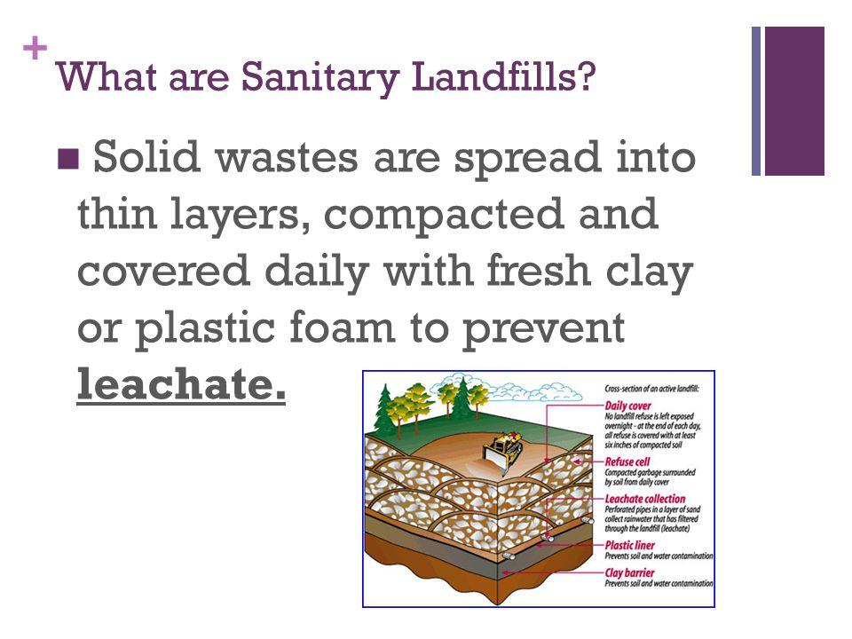 + What are Sanitary Landfills.