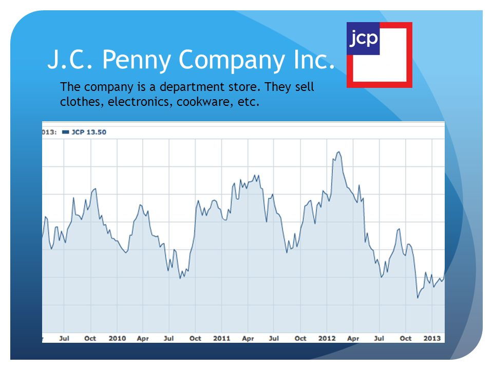 J.C. Penny Company Inc. The company is a department store.