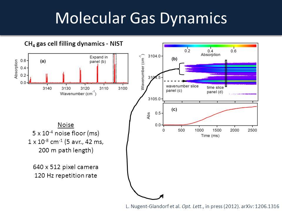 Molecular Gas Dynamics L. Nugent-Glandorf et al. Opt. Lett., in press (2012). arXiv: 1206.1316 Noise 5 x 10 -4 noise floor (ms) 1 x 10 -8 cm -1 (5 avr