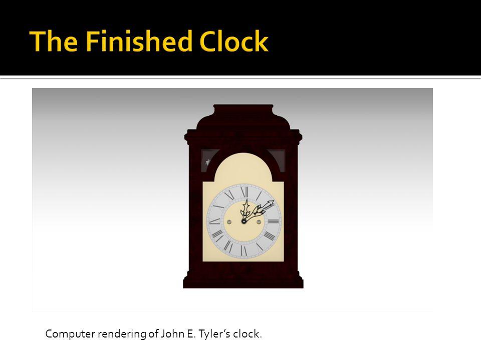 Computer rendering of John E. Tyler's clock.