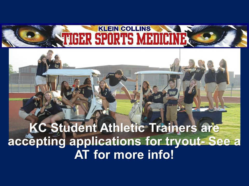 KC Student Athletic Trainers are accepting applications for tryout- See a AT for more info!