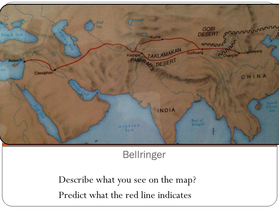 Bellringer Describe what you see on the map? Predict what the red line indicates