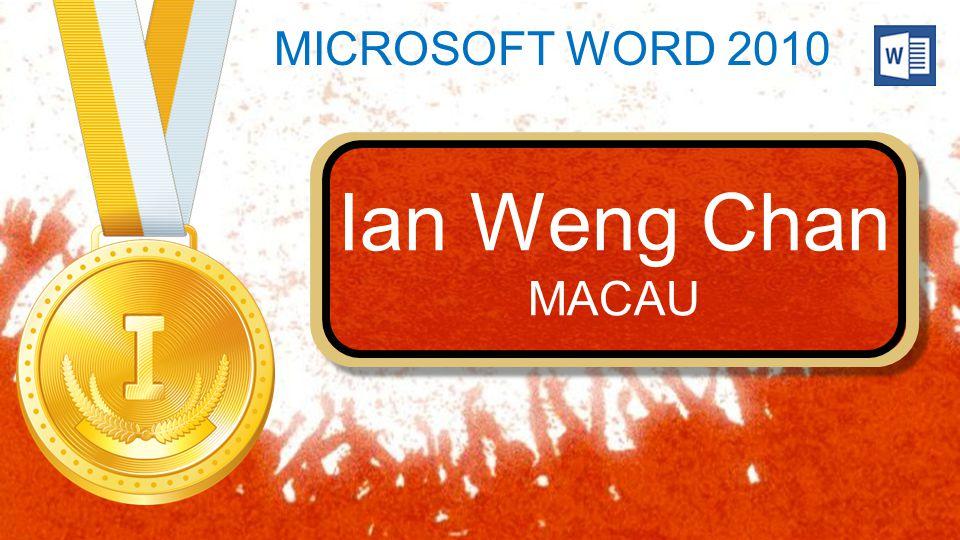 Ian Weng Chan MACAU Ian Weng Chan MACAU