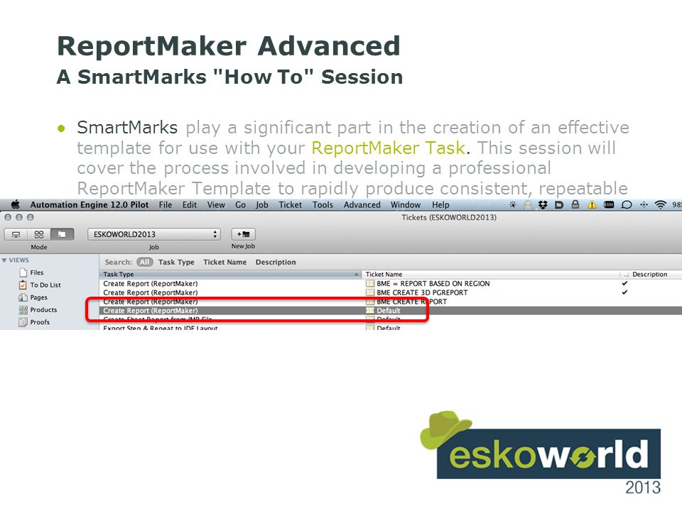 8 ReportMaker Advanced A SmartMarks