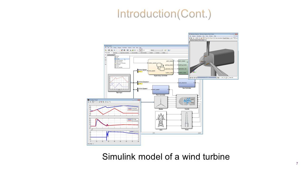 7 Simulink model of a wind turbine