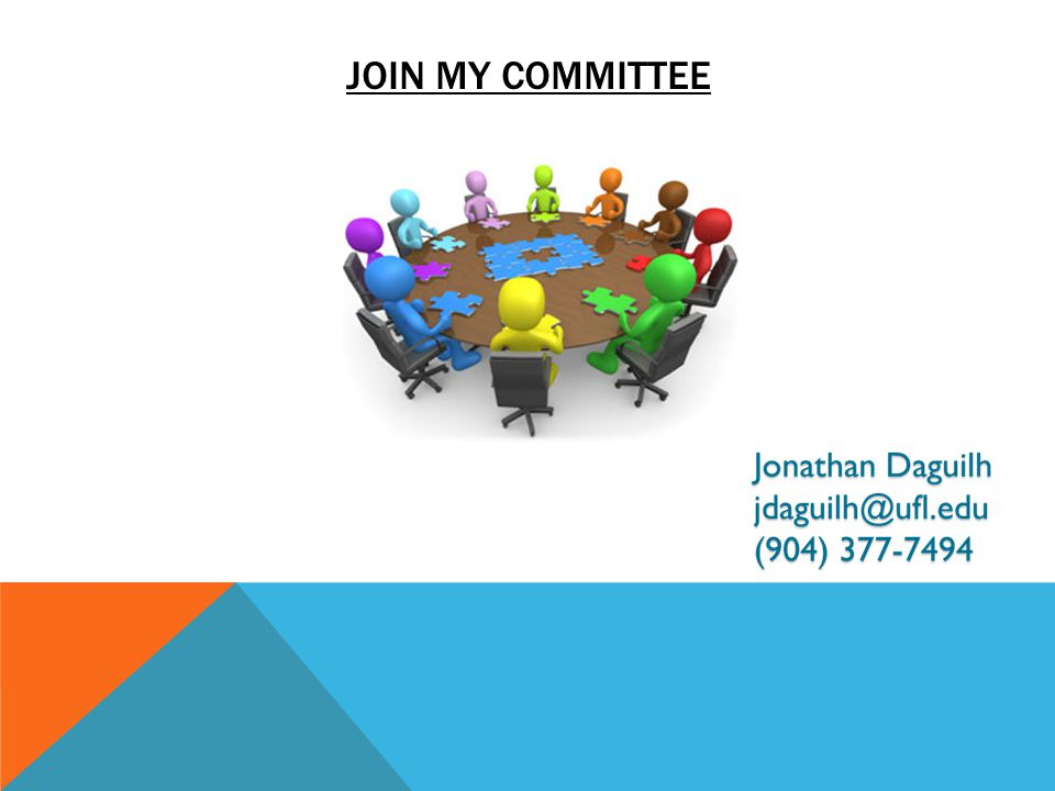 JOIN MY COMMITTEE