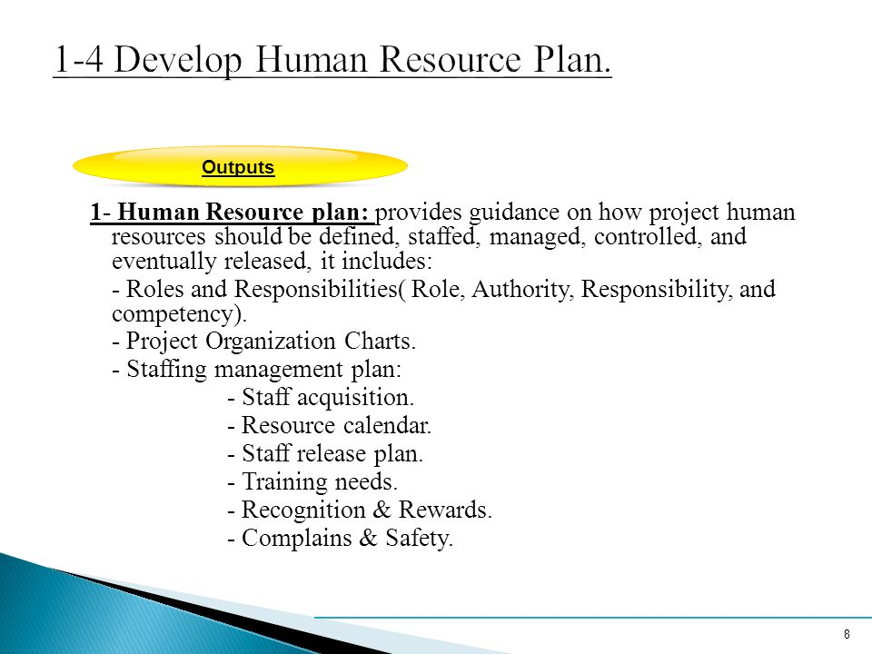 1-4 Develop Human Resource Plan.