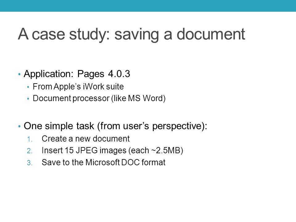 Files small I/O big I/O