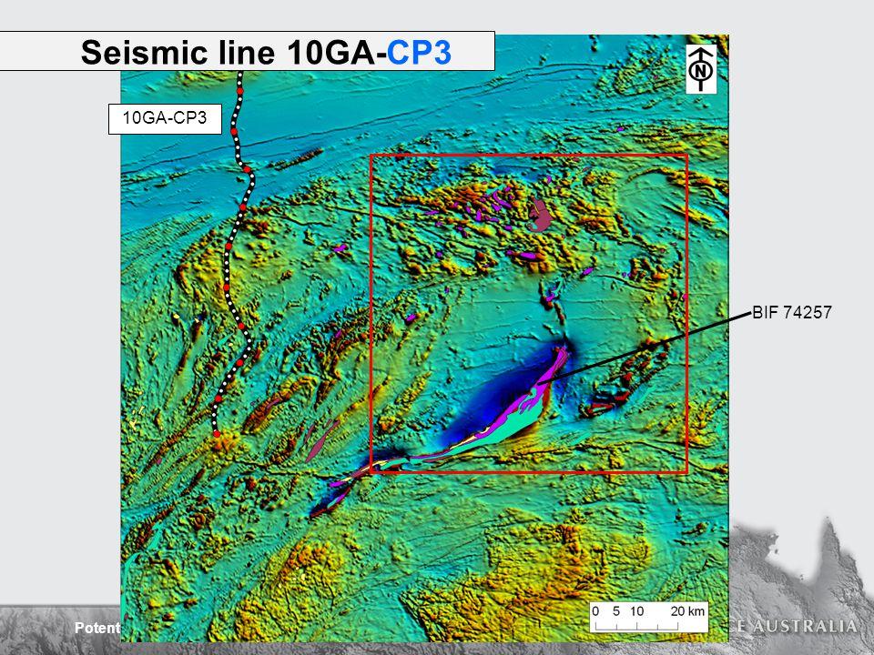 Potential Field Interpretation of the Capricorn Orogen BIF 74257 Seismic line 10GA-CP3 10GA-CP3