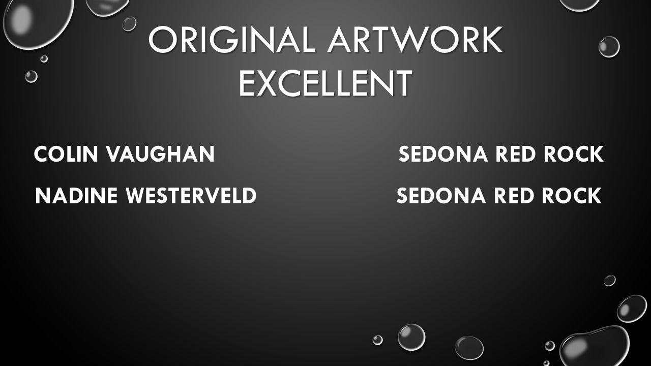 ORIGINAL ARTWORK EXCELLENT COLIN VAUGHAN SEDONA RED ROCK NADINE WESTERVELD SEDONA RED ROCK