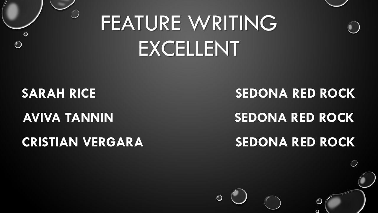 FEATURE WRITING EXCELLENT SARAH RICE SEDONA RED ROCK AVIVA TANNIN SEDONA RED ROCK CRISTIAN VERGARA SEDONA RED ROCK
