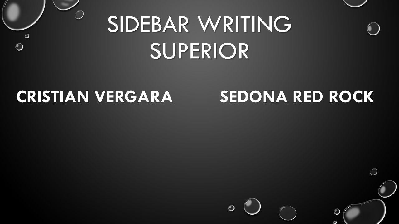 SIDEBAR WRITING SUPERIOR CRISTIAN VERGARA SEDONA RED ROCK