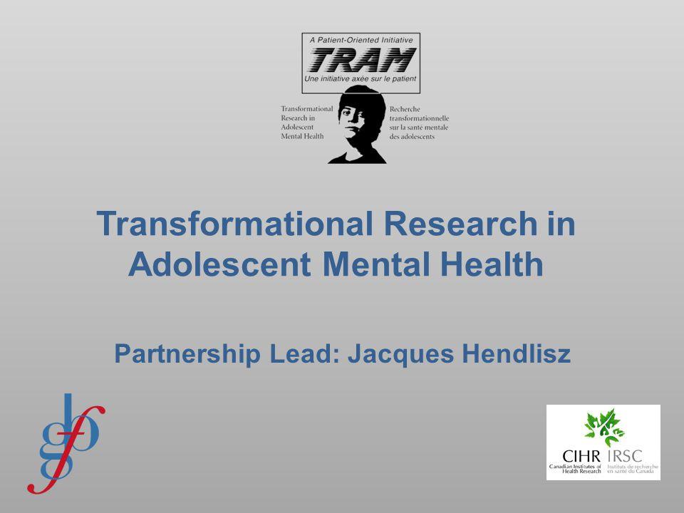 HOW WILL WE TRANSFORM ADOLESCENT MENTAL HEALTH.