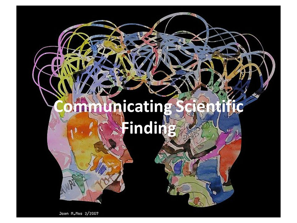Communicating Scientific Finding