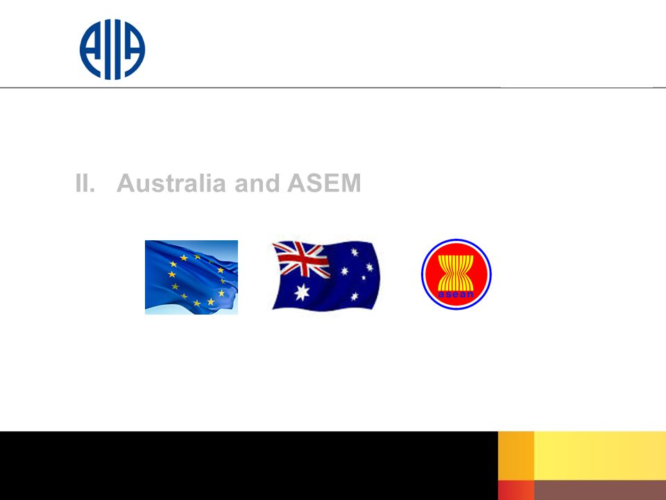 II. Australia and ASEM
