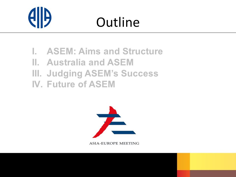 I.ASEM: Aims and Structure II. Australia and ASEM III.