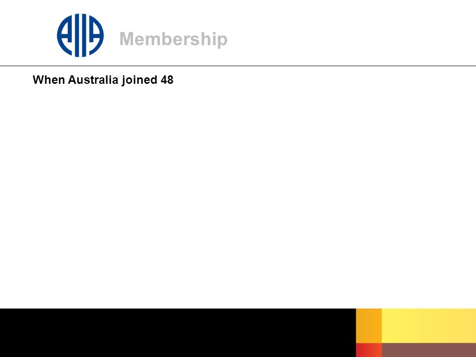Membership When Australia joined 48