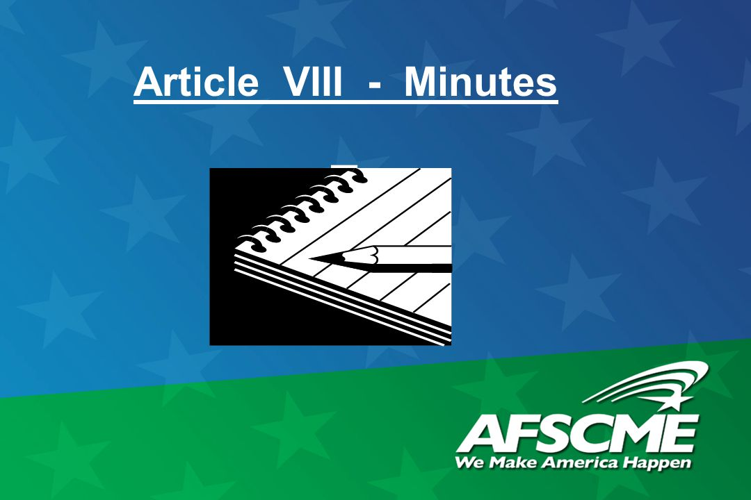 Article VIII - Minutes
