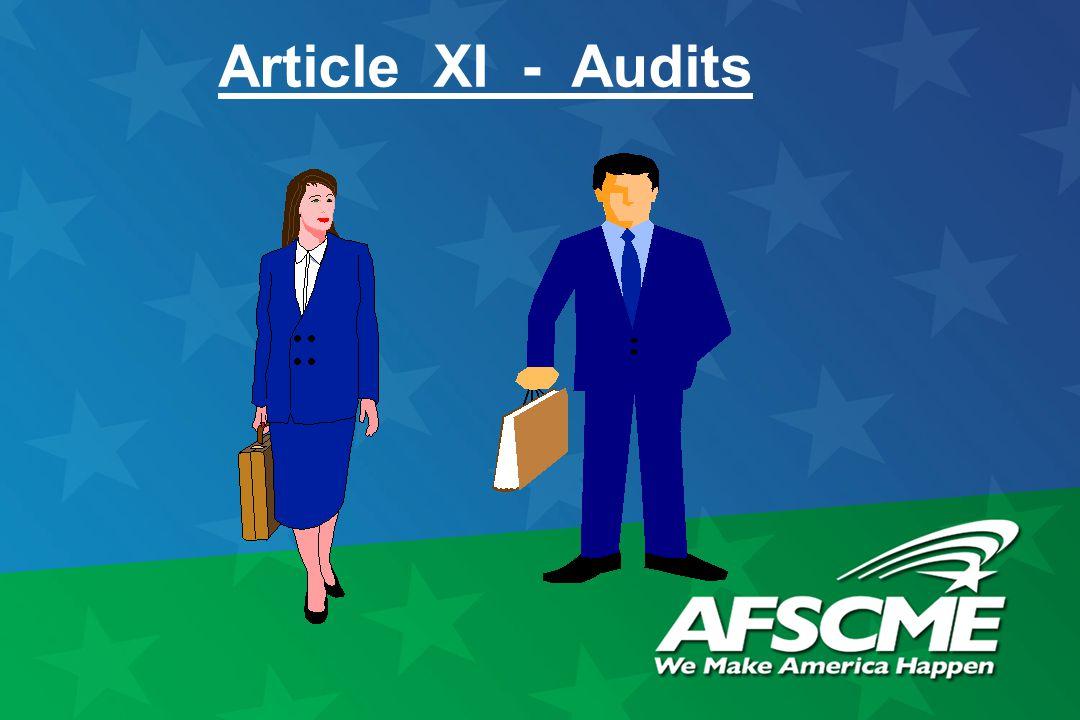 Article XI - Audits