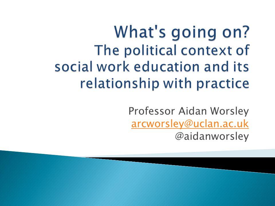 Professor Aidan Worsley arcworsley@uclan.ac.uk @aidanworsley