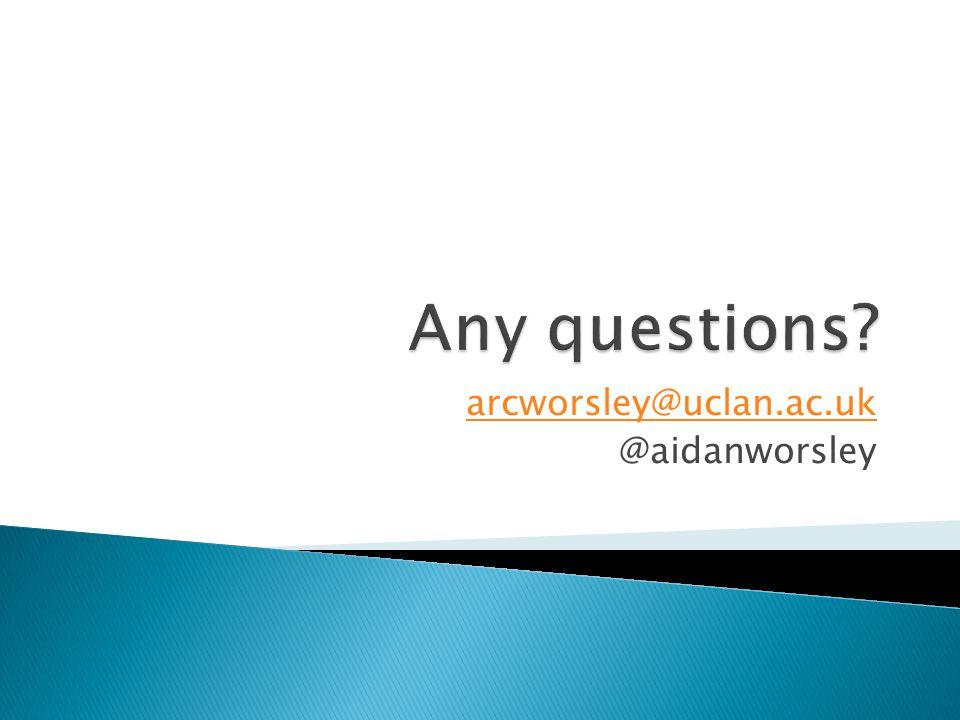 arcworsley@uclan.ac.uk @aidanworsley
