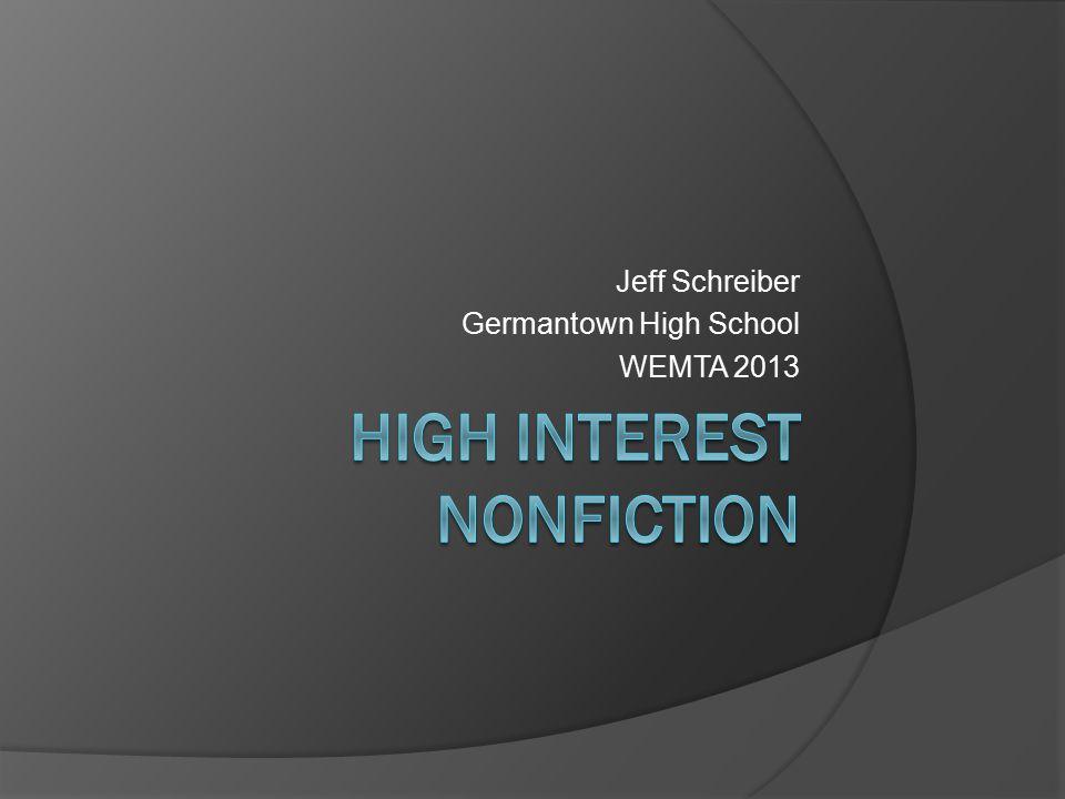 Jeff Schreiber Germantown High School WEMTA 2013
