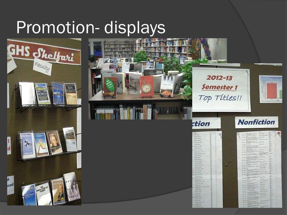 Promotion- displays