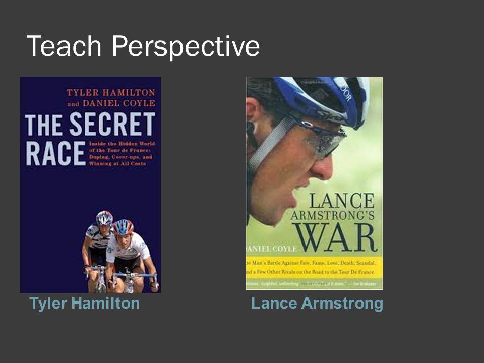 Teach Perspective Tyler HamiltonLance Armstrong