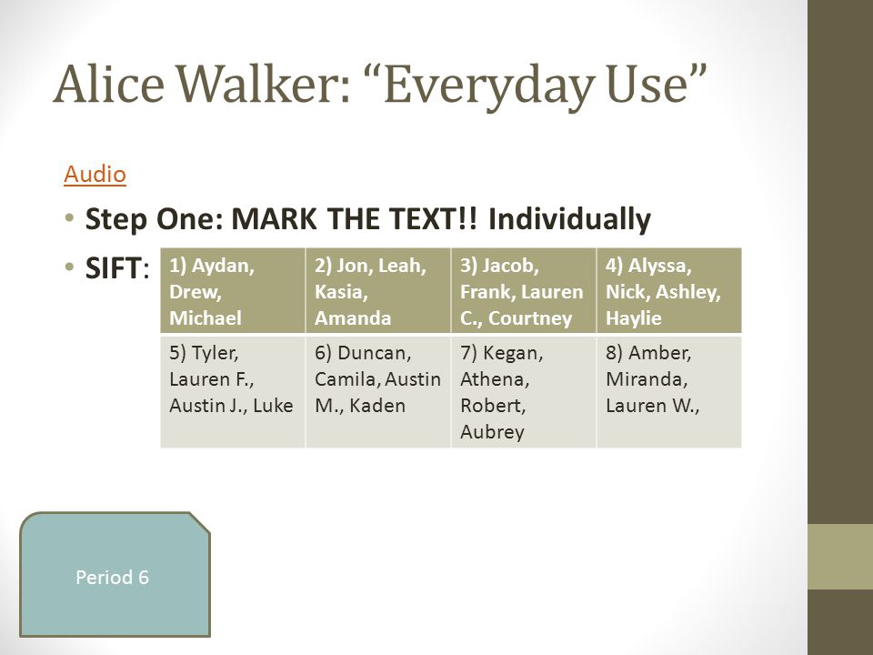 everyday use by alice walker critical essays