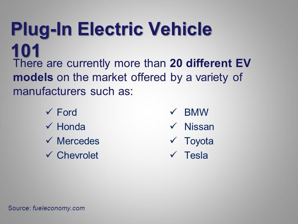 Plug-In Hybrid Electric Vehicle (PHEV) Toyota Plug-in Prius Average Electric Range: 11 miles fueleconomy.com
