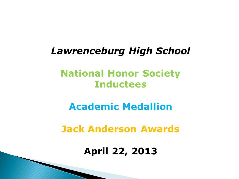 Ashlee Miller Academic Medallion- Bronze Jack Anderson-1st