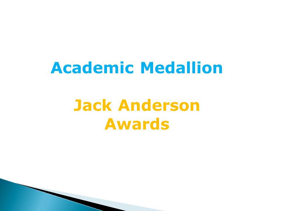 Alex Orndorff Academic Medallion- Bronze Jack Anderson-2nd