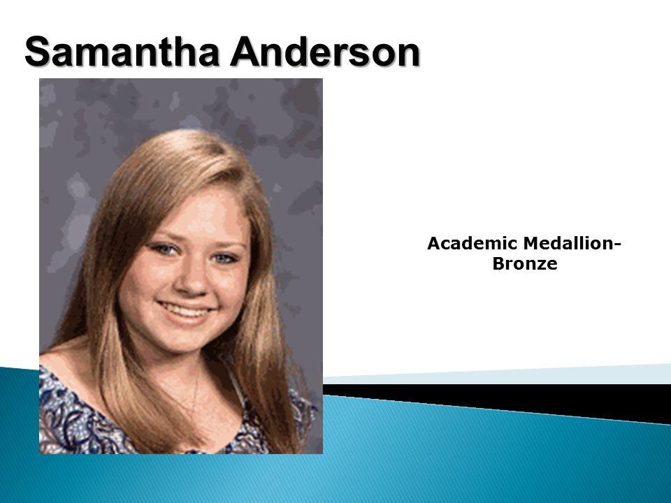 Sara Anderson All A's Academic Medallion- Silver