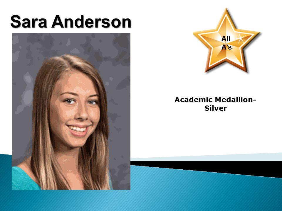 Abbigayle Schmidt Academic Medallion- Bronze Jack Anderson-2nd