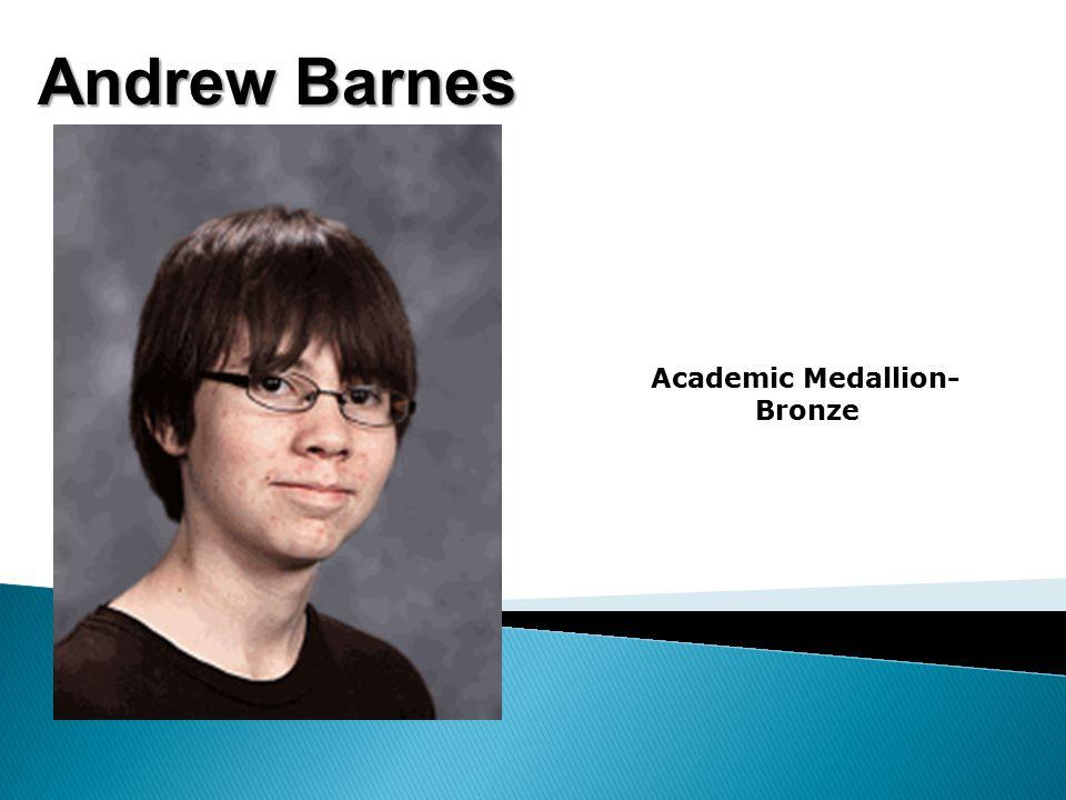 Katie Anderson Academic Medallion- Bronze Jack Anderson-2nd