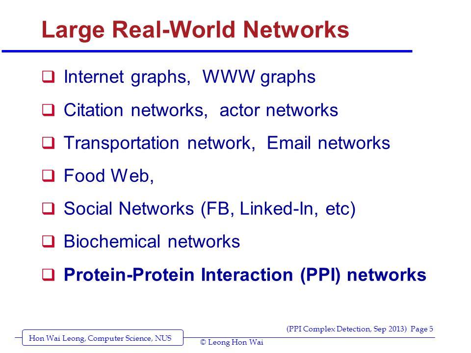 Hon Wai Leong, Computer Science, NUS (PPI Complex Detection, Sep 2013) Page 6 © Leong Hon Wai Community Structure (example)