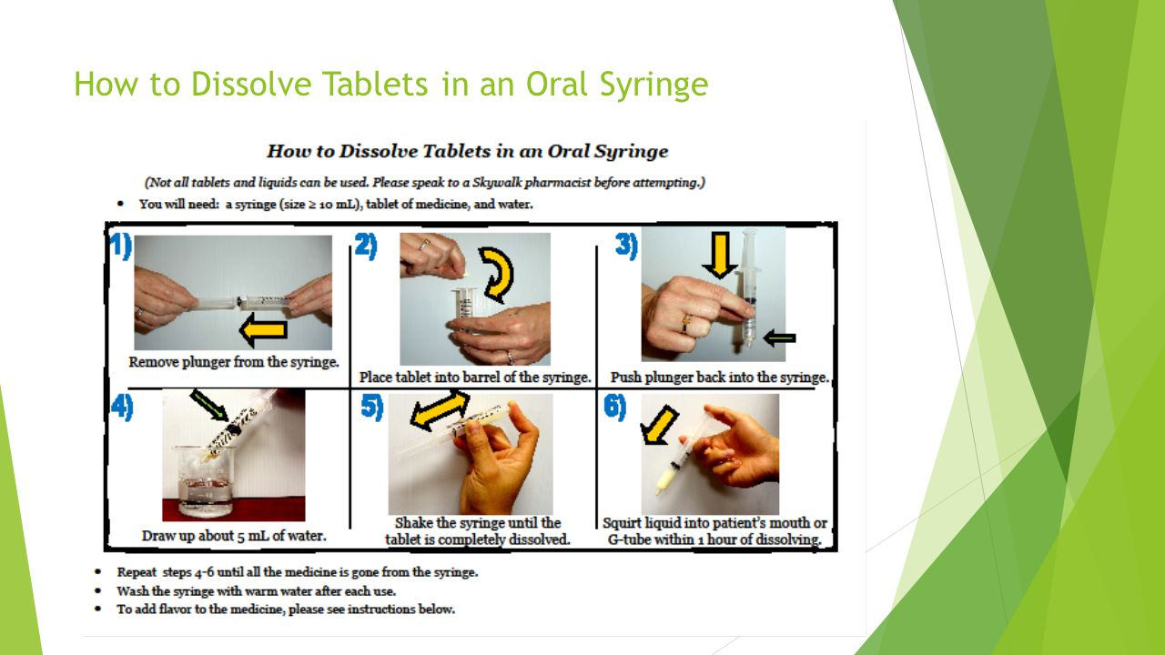 How to Dissolve Tablets in an Oral Syringe